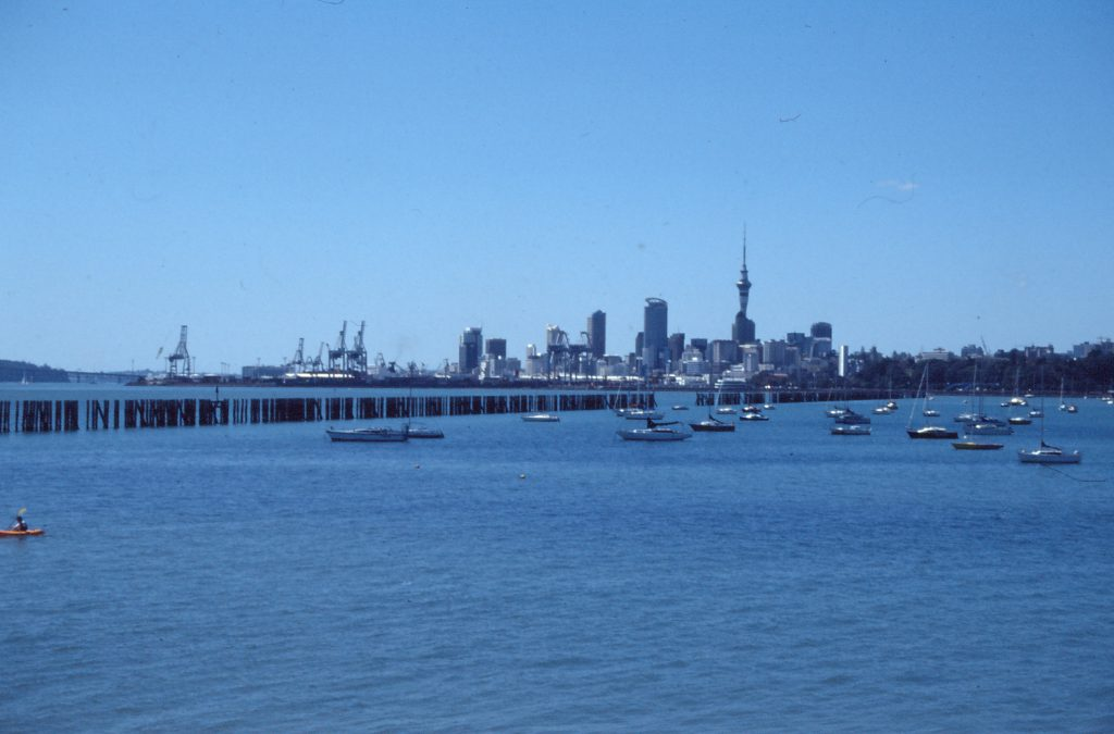 Skyline von Auckland mit Harbour Bridge