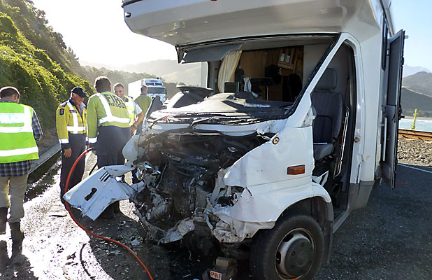 Campervan Crash New Zealand Kaikoura