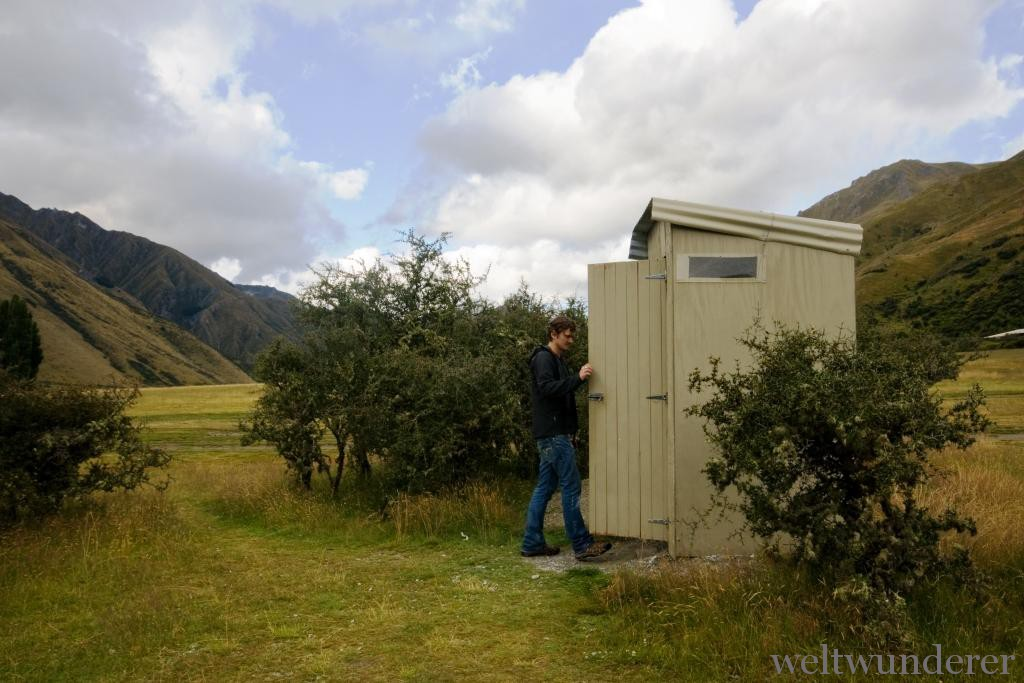 Toiletten in Neuseeland Moke Lake
