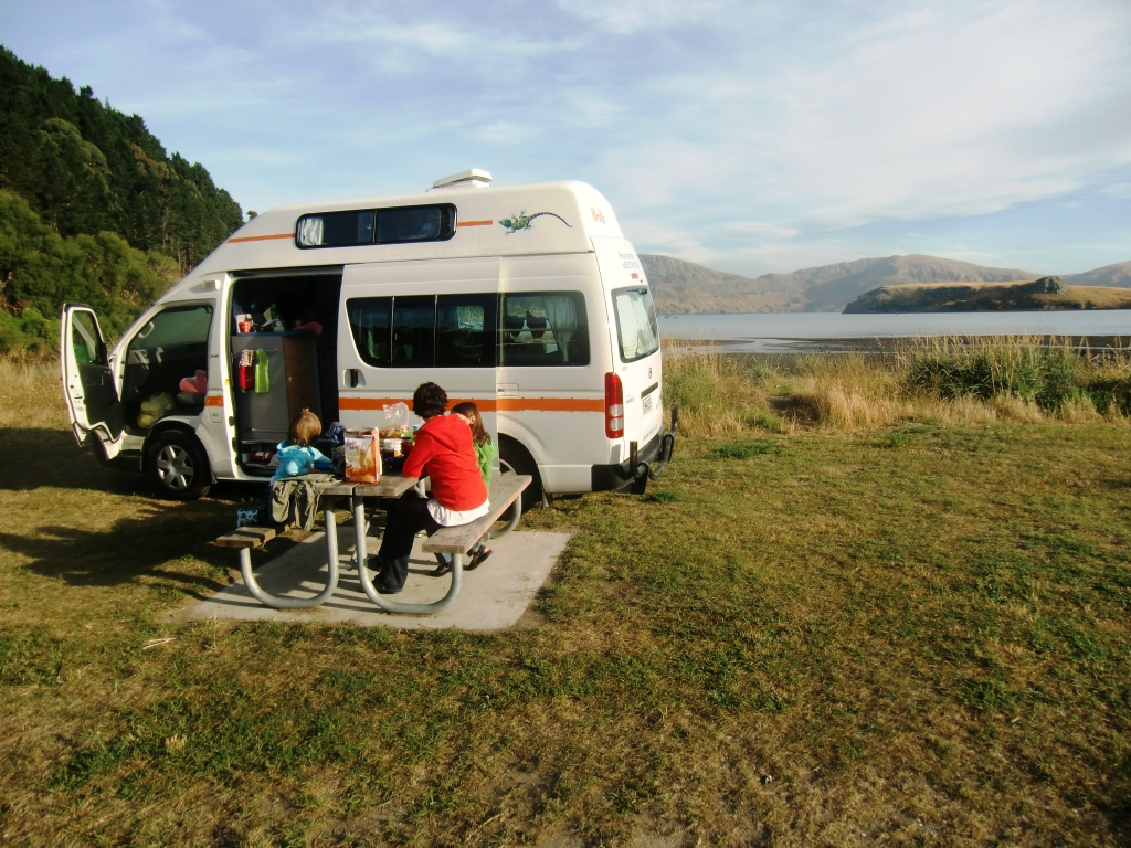 Campervan in Purau