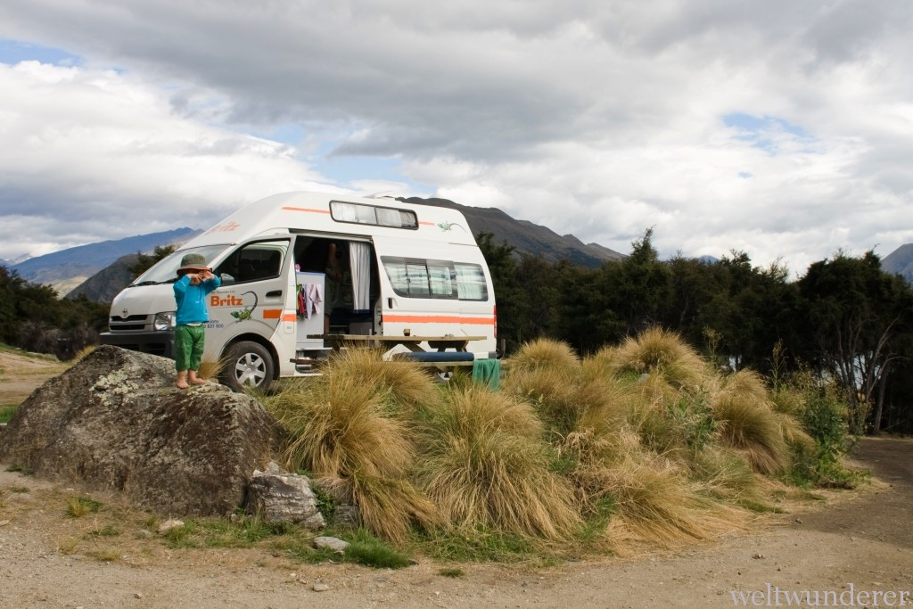 Campingplatz Lake Outlet am Lake Wanaka