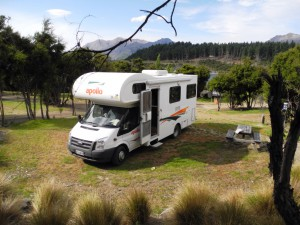 Campervan im Lake Outlet Wanaka