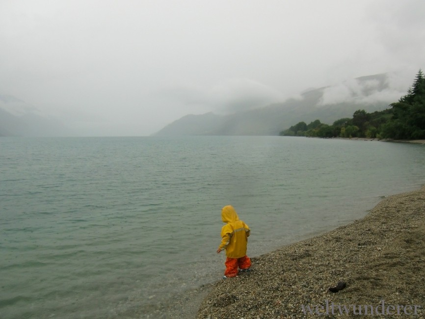 Regen am Lake Wakatipu