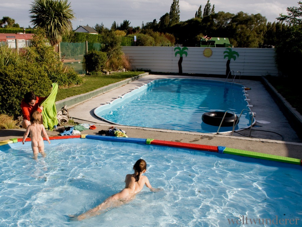 Swimmingpool Farmyard Holiday Park Geraldine