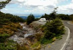 Campervan Mangawhero Falls Lookout Ohakune Tongariro National Park