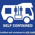 self-containment blue sticker
