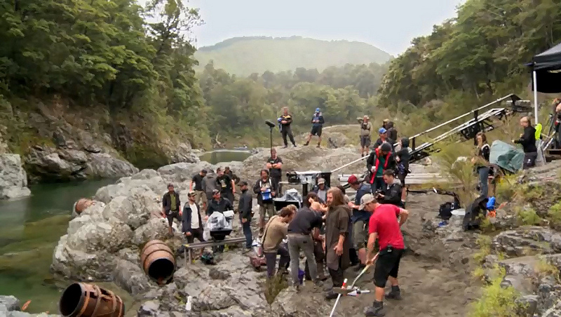 Hobbit Set at Pelorus River (c) New Line Cinema