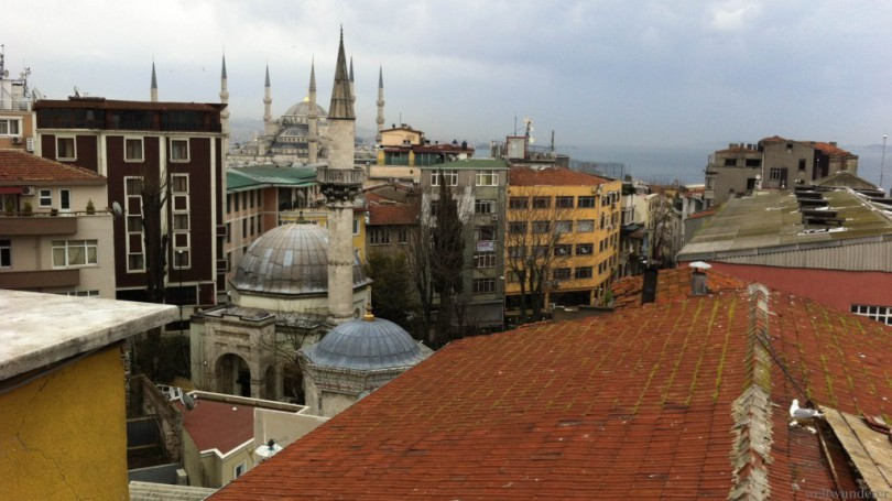 Istanbul Blue Mosque from Hotel