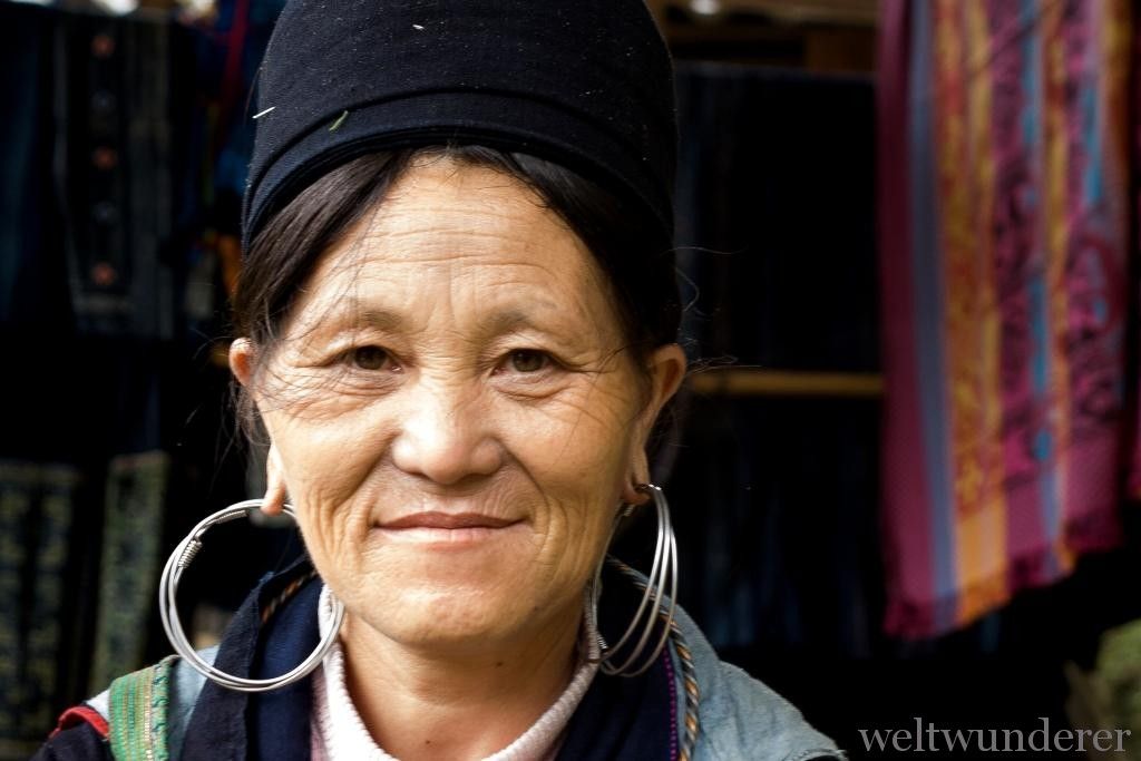 Serene Black Hmong woman in Sapa