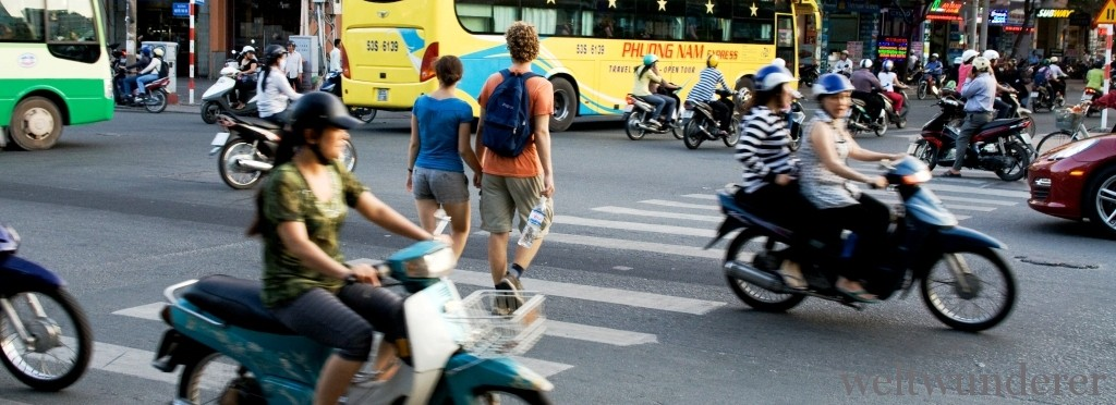 Street crossing in Saigon