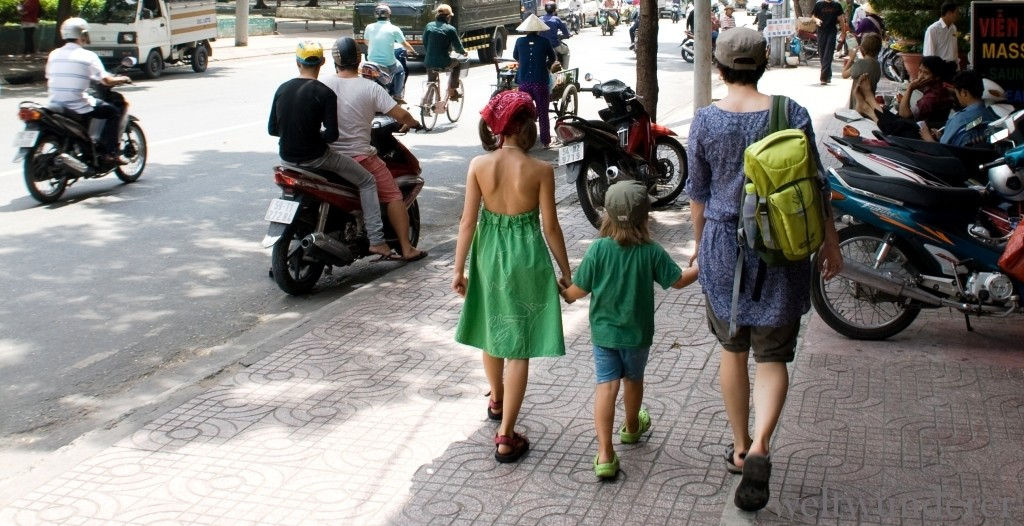With Kids on the Street in Saigon