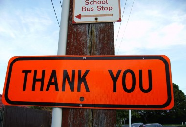 Thank you sign NZ FlickR/Mr Munnings on tour