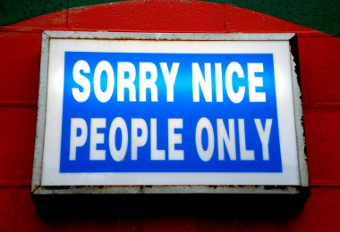 Sorry nice people only sign (c) FlickR/geoftheref