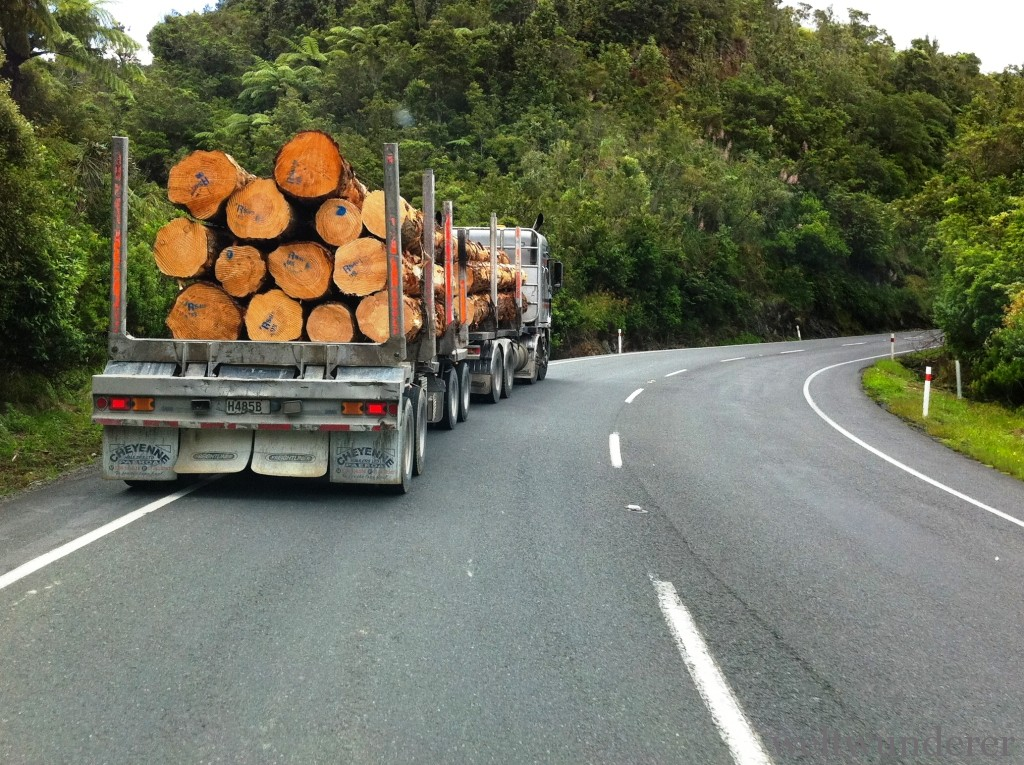 Logging truck NZ
