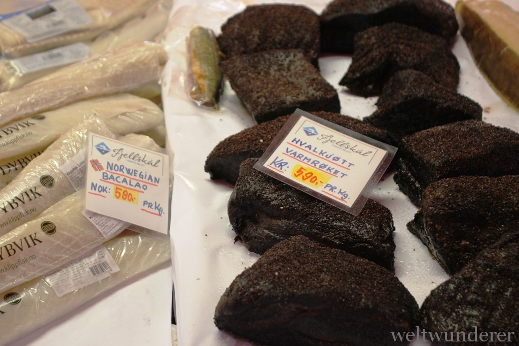 Bergen Fish Market Whale Meat Norway