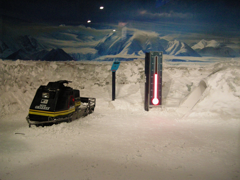 "Der ""Storm Room"" im Christchurch Antarctic Centre (c) FlickR/Madeleine_H"