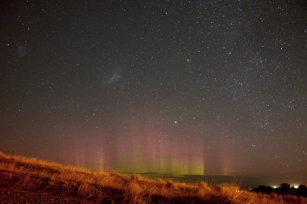 Aurora australis in Christchurch (c) FlickR/Seabird NZ