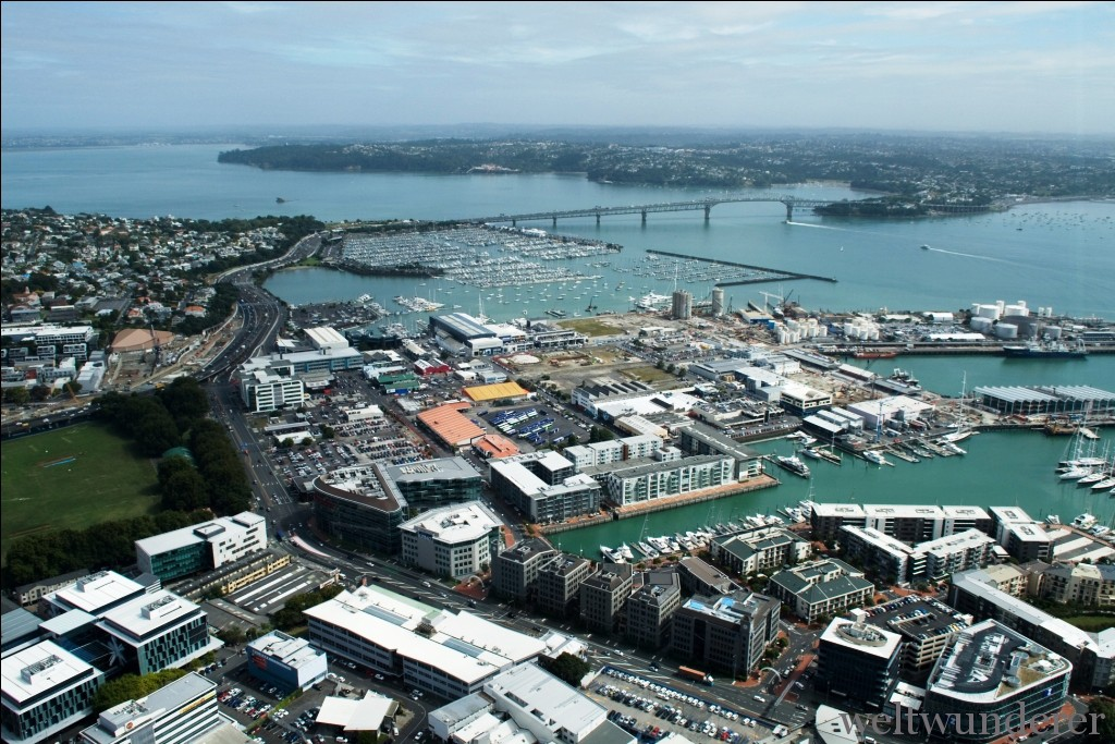 Weltwunderer Auckland Panorama