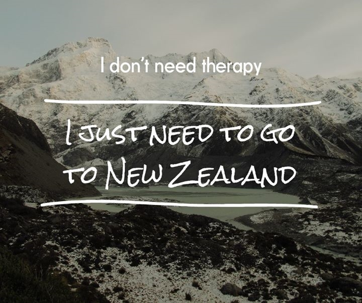 I just need to go to New Zealand