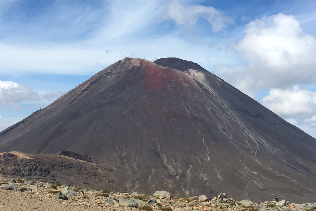 Philipp Mertens Tongariro Crossing mit Baby