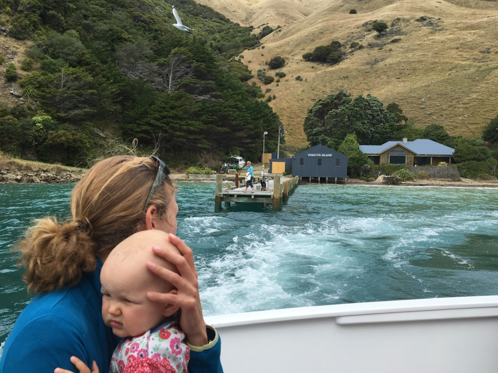 Bootstour mit Baby in Neuseeland