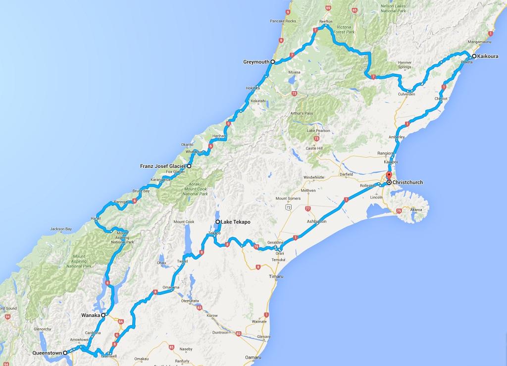 Route 1 Klassiker Suedinsel Neuseeland