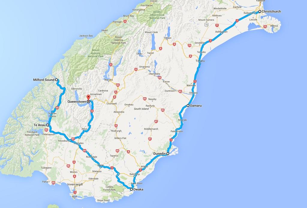 Route 2 Sueden Suedinsel Neuseeland