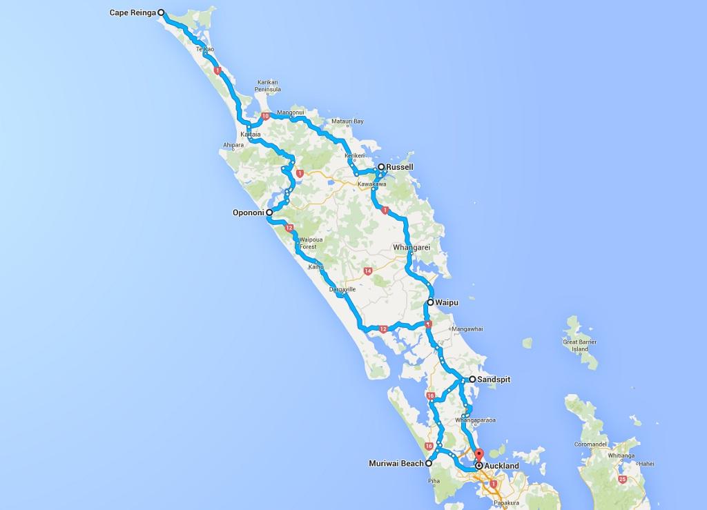 Route 3 Norden Nordinsel Neuseeland