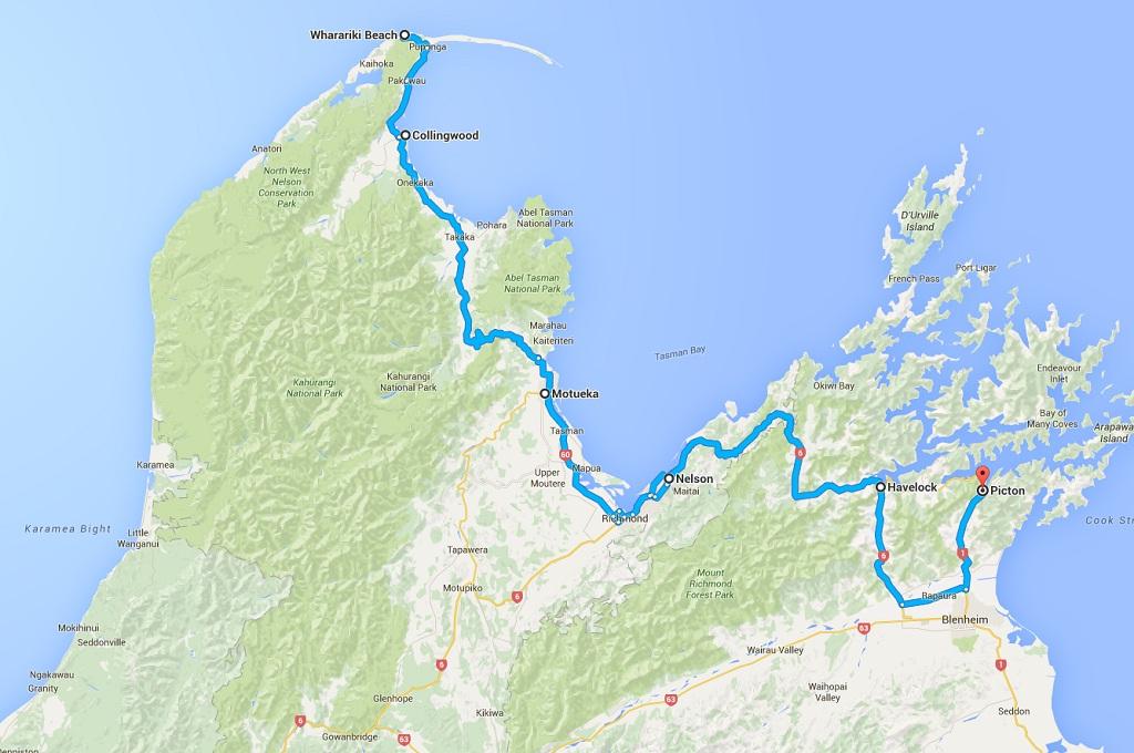 Route 3 Norden Suedinsel Neuseeland