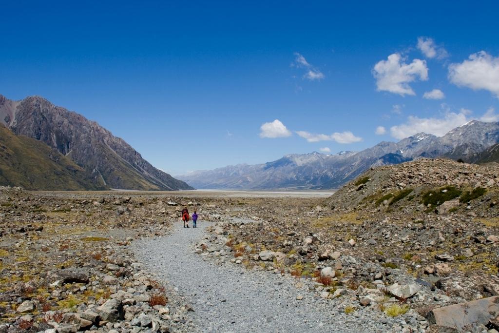 Tasman Glacier Walk mit Kindern