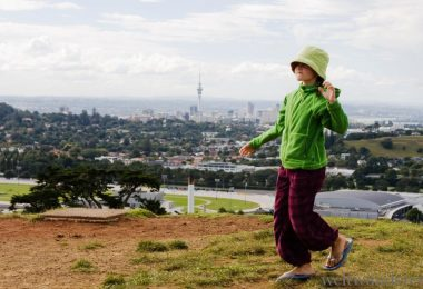 Mit Schulkind nach Neuseeland Auckland One Tree Hill