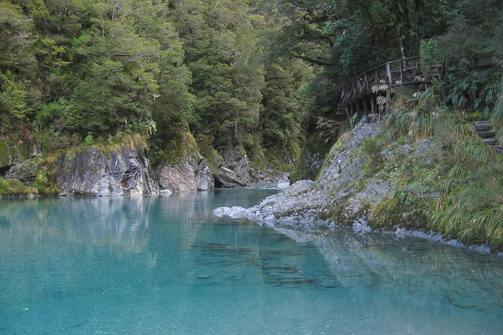 Besten Wanderwege in Neuseeland Blue Pools Wanaka