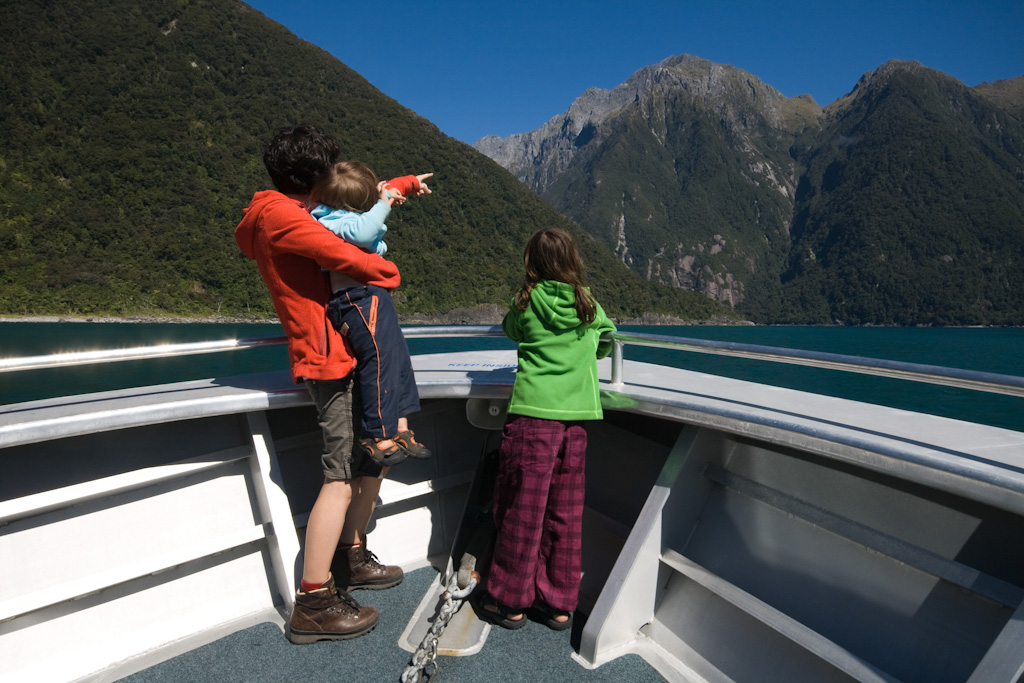 Milford Sound Bootstour Familie