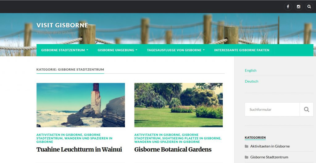 Visit Gisborne Screenshot