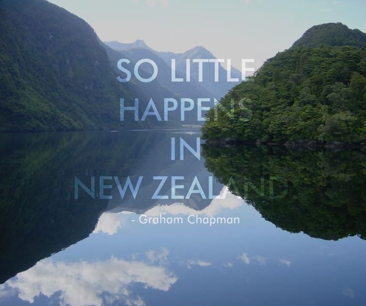 So little happens in New Zealand