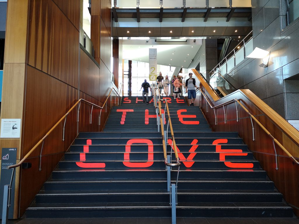 Wellington Te Papa Treppen Love