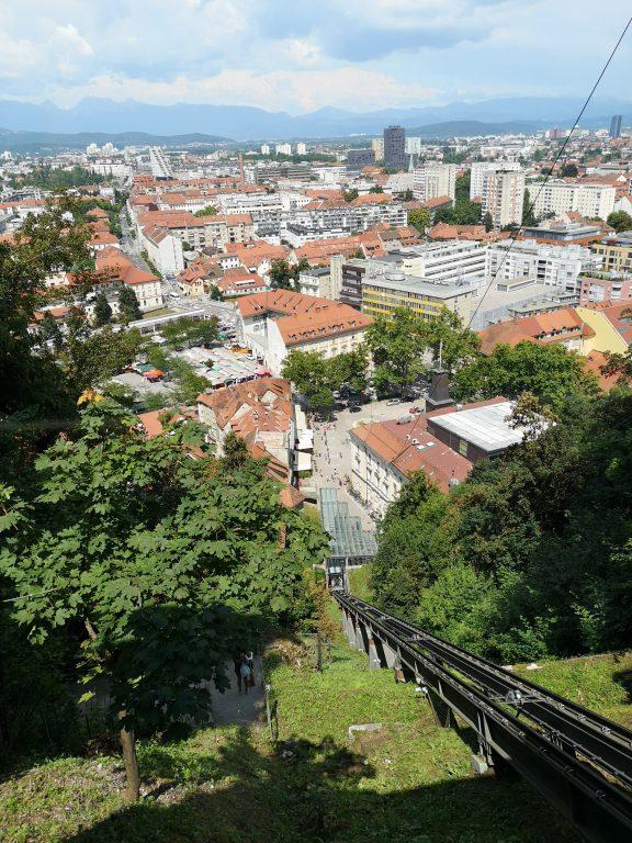 Slowenien Ljubljana Seilbahn