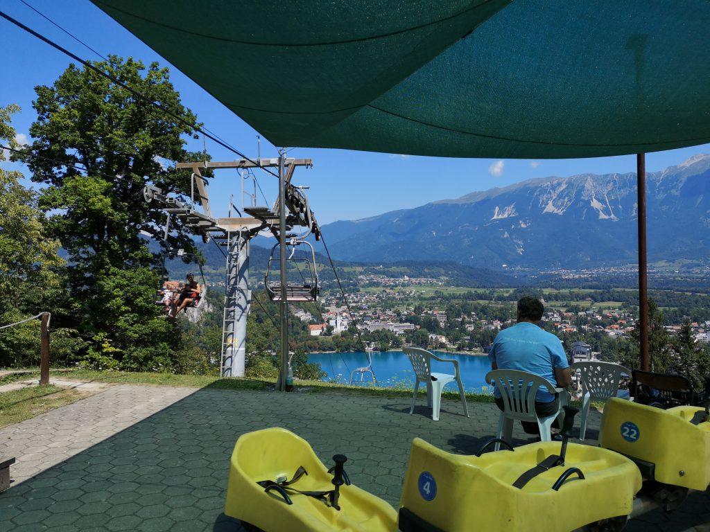 Slowenien Lake Bled Sommerrodelbahn