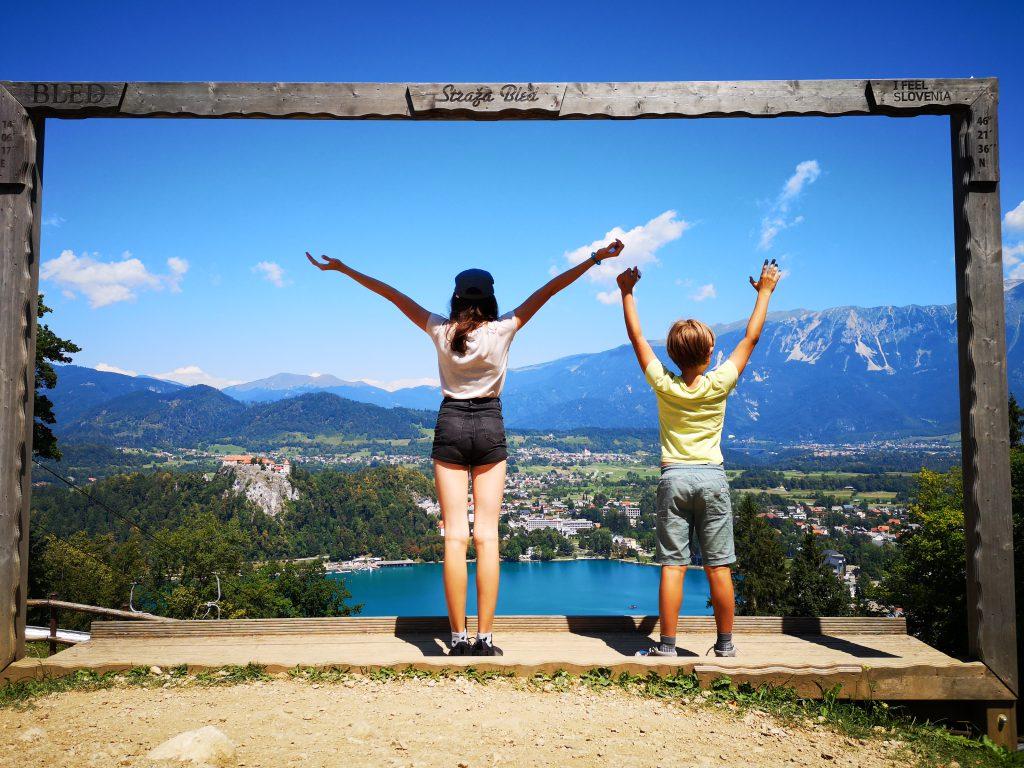 Slowenien Lake Bled Aussicht