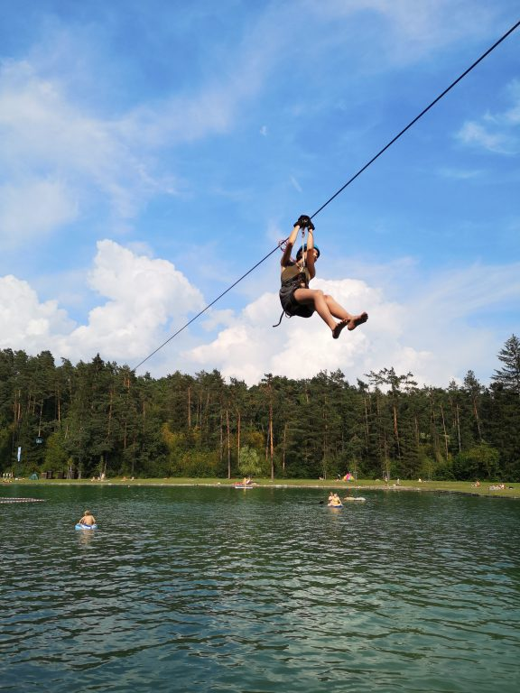 Camp Sobec Zipline Slowenien