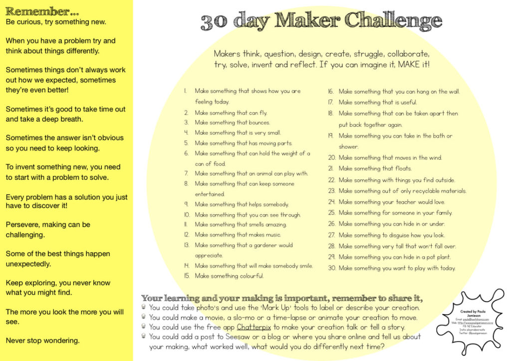 30 day makers challenge