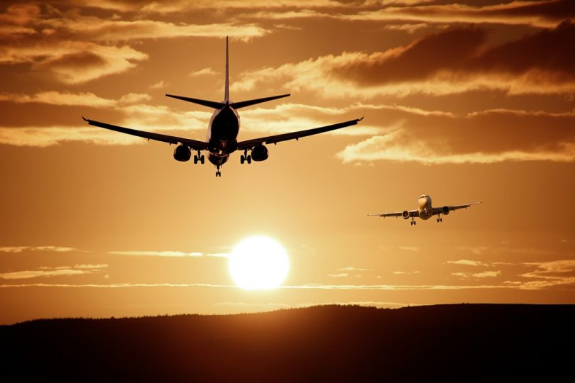 Flugzeuge Sonnenuntergang