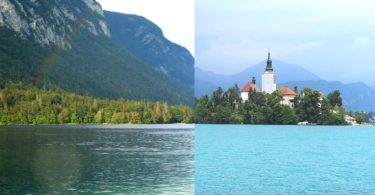 Slowenien Lake Bled oder Lake Bohinj