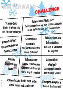 Weltwunderer Winterwald-Challenge Spielideen mit Druckvorlagen