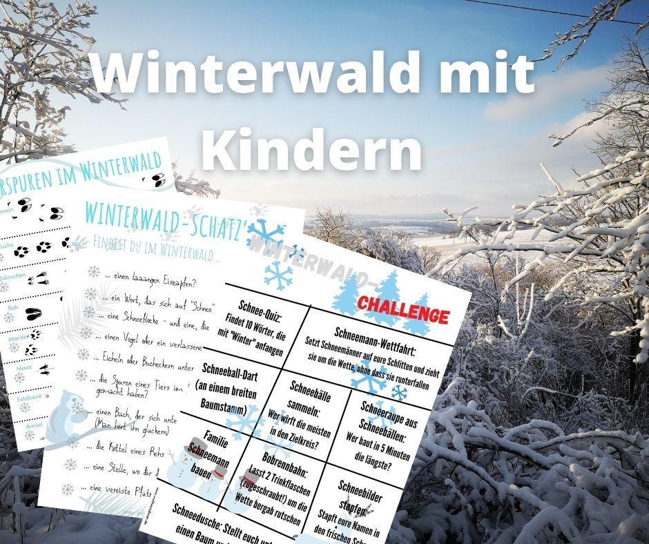 Winterwald mit Kindern 3 Spielideen mit Druckvorlagen